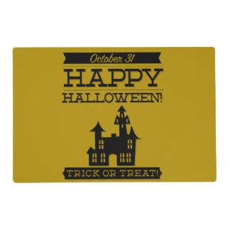 Typographic retro Halloween Placemat