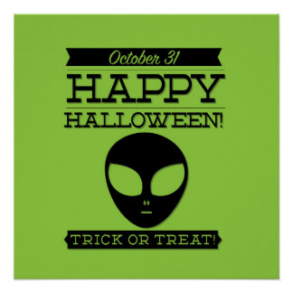 Typographic retro Halloween Poster