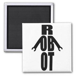 Typographic Robot Magnets