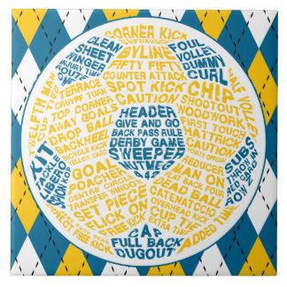Typographic Soccer Ball Tile