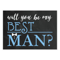 TYPOGRAPHIC WILL YOU BE MY BEST MAN | GROOMSMAN CARD