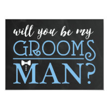 Modern Typography Be My Groomsman Cards