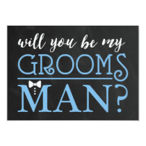 TYPOGRAPHIC WILL YOU BE MY GROOMSMAN | GROOMSMAN CARD