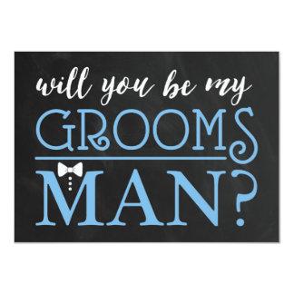 TYPOGRAPHIC WILL YOU BE MY GROOMSMAN | GROOMSMAN CARD