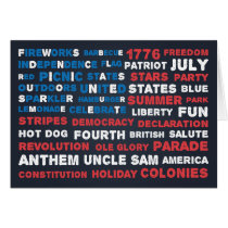 Typography 4th of July Party Greeting Card