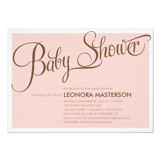 TYPOGRAPHY BABY  | BABY SHOWER INVITATION