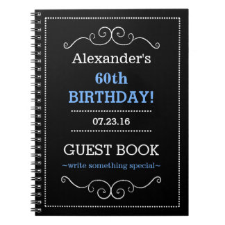 Typography Birthday Party Guest Book- Notebook