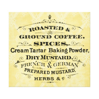 Typography Coffee and Spices Vintage Advertisement Canvas Print