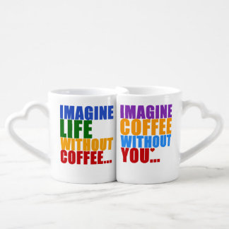 typography coffee partners forever couples' coffee mug set