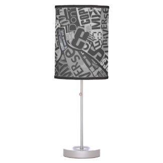 Typography Collage Tabloid Newpaper Print Table Lamp