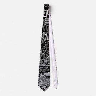 Typography Collage Tabloid Newspaper Clipping Tie