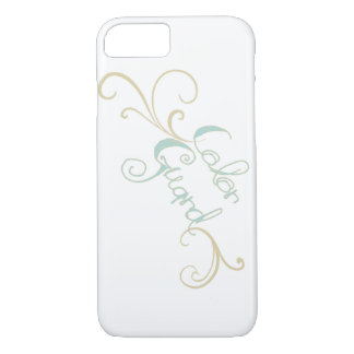 Typography Color Guard with Swirls Design iPhone 8/7 Case