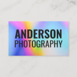 Typography colorful abstract pattern bold font business card