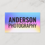Typography colorful unicorn gradient bold font business card