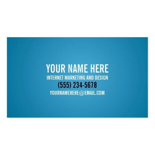Typography Cool Cyan Business Card