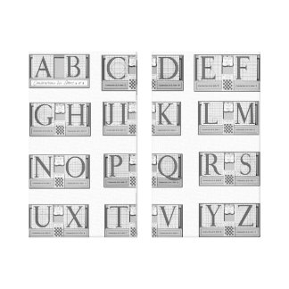 Typography Father Sebastien Truchet 2 Side-By-Side Canvas Print