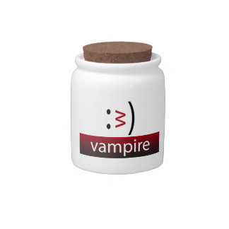 Typography Fun Emoticon: Vampire Candy Dishes