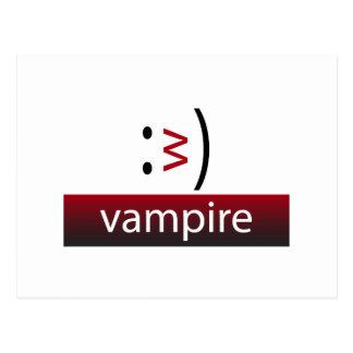 Typography Fun Emoticon: Vampire Postcard