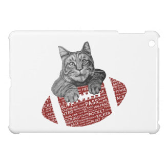 Typography funny American football Cat Case For The iPad Mini