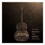 typography guitar poster