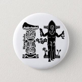Typography H(Honolulu: USA) Pinback Button