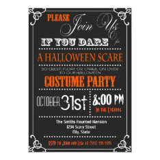 Typography Halloween Party Invitation at Zazzle