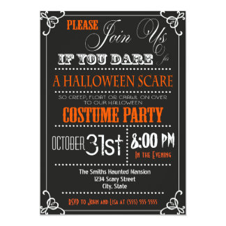 Typography Halloween Party Invitation
