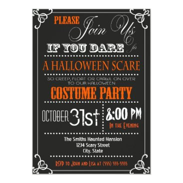 Halloween Themed Typography Halloween Party Invitation