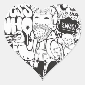 typography heart sticker