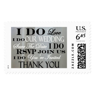 TYPOGRAPHY  I DO THANK YOU RSVP SAVE THE DATE POSTAGE STAMP