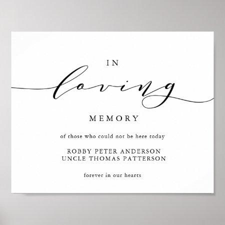 Typography in loving memory wedding sign memorial