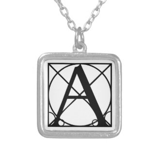 Typography Initial Silver Plated Necklace