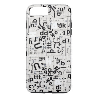 Typography Letter Art Tough iPhone 7 Plus Case
