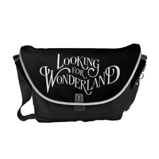 Typography | Looking for Wonderland 4 Messenger Bag