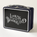Typography | Looking for Wonderland Metal Lunch Box
