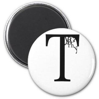 Typography Refrigerator Magnet