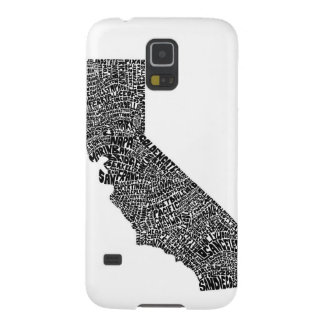 Typography map of California Galaxy S5 Cover