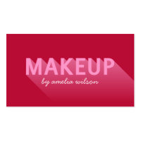 Typography Modern Dark Pink Makeup Artist Business Card