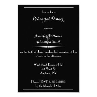 Typography Modern rehearsal dinner invitations