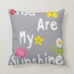 Typography Motivational Phrase - Grey Throw Pillow