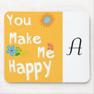 Typography motivational phrase - Orange Mouse Pad