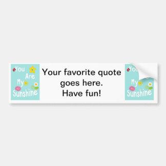 Typography motivational phrase - Pastel Blue Bumper Sticker