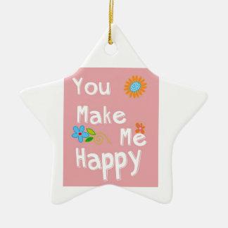 Typography Motivational Phrase - Pink Ceramic Ornament
