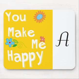 Typography Motivational Phrase - Yellow Mouse Pad