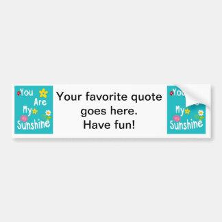 Typography motivational phrases - Blue Bumper Sticker