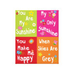 Typography motivational phrases - collage canvas print