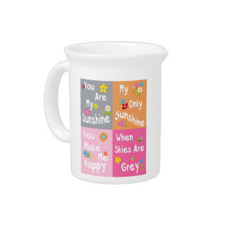 Typography Motivational Phrases - Collage Drink Pitcher