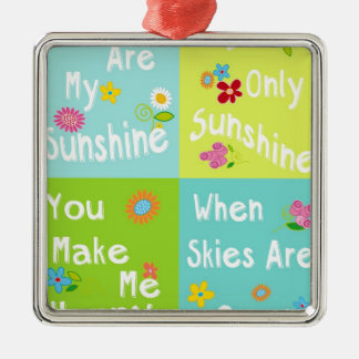 Typography Motivational Phrases - collage Metal Ornament