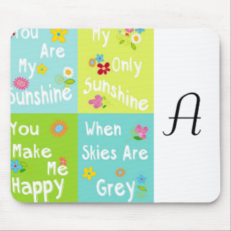 Typography Motivational Phrases - collage Mouse Pad