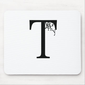 Typography Mouse Pad